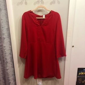 Red long sleeve dress from GAP